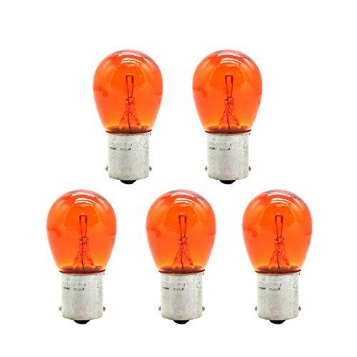 BSK 5PCS 12V PY21W CarMotorcycle Orange Turn Signal Light Bulb
