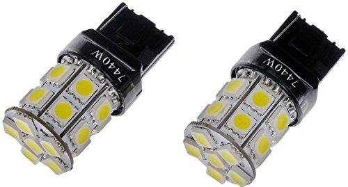 Dorman 7440W-SMD White LED Turn Signal Light Bulb Pack of 2