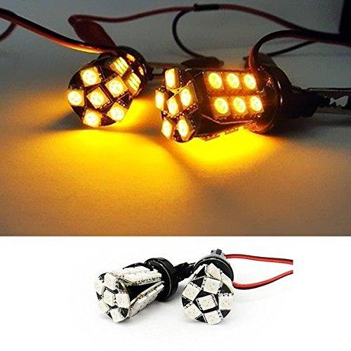 LEDIN AMBER 3157 No Error 24 SMD LED Front inner turn signal Light Bulb 3057 4157 3156