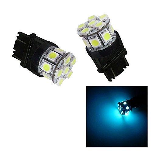 PA 2pcs 13SMD LED 3157 3457A 3156 Auto Stop Light Back Light  Side Marker Light  Tail Light  Turn Signal Light Bulbs Ice Blue-12V