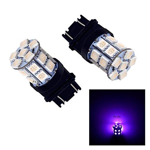 PA 2pcs 3157 3457A 3156 20 SMD LED Auto Stop Light Back Light  Side Marker Light  Tail Light  Turn Signal Light Bulbs Purple-12V