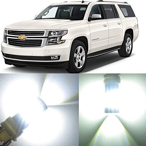Alla Lighting 2x Super Bright White 7440 7440LL WY21W 7440NAK LED Bulbs for Front Rear Turn Signal Blinker Brake Stop Light Lamps for 2015 2016 2017 Chevrolet Chevy Suburban  Suburban 3500 HD  Tahoe