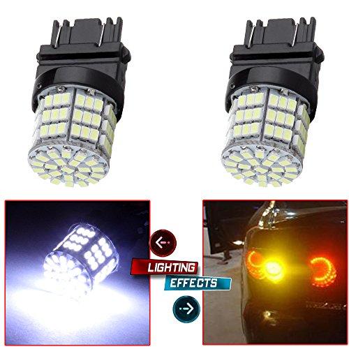 CCIYU 2 pcs White 3157 Epistar 6000K 3020 85SMD LED Lights Bulbs for 3157 Tail Brake Stop Light Lamp