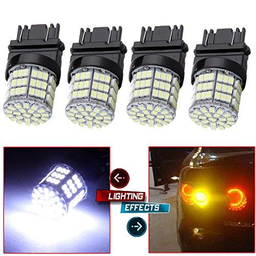 CCIYU 4 Pack White 3157 Epistar 6000K 3020 85SMD LED Lights Bulbs for 3157 Tail Brake Stop Light Lamp