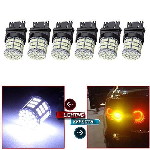 CCIYU White 3157 Epistar 6000K 3014 54-SMD LED Lights Bulbs for 3157 Tail Brake Stop Light Lamp Pack of 6