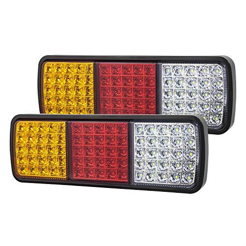 Linkitom 75 LED Truck Tail Light Bar Super Bright 12v Turn Signal Brake Reverse Taillight for Truck Boat Snowmobile Trailer Pickup RV Camper UTV UTE Vans 2PCS
