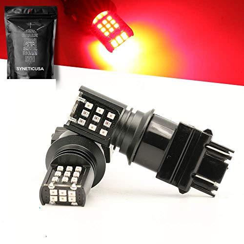LED Red Brake Stop Light Turn Signal Blinker Parking DRL High Power Light Bulbs 7443 Red