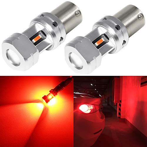 Phinlion 1156 LED Red Brake Light Bulb 3600 Lumens Super Bright 3497 1156 7506 LED Bulbs for Car Truck RV Motorcycle Tail Stop Turn Signal Blinker Lights