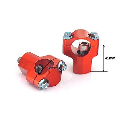 TARAZON CNC Billet Mount Clamp Risers 125 165 2 in Higher Taper Handlebar Handle Bars Risers for KTM 1 18 28mm Bars