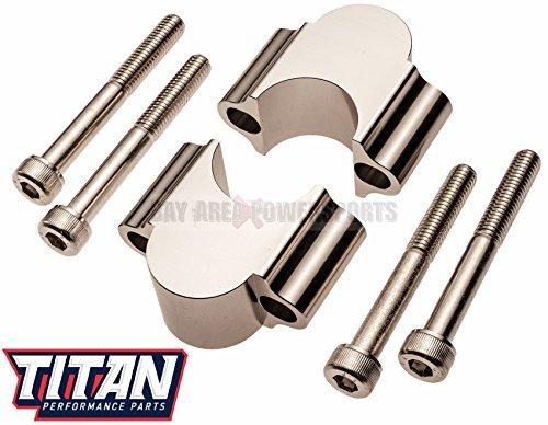 Titan Handle Bar Riser Kit For 1 18 Fat Bars 30mm Rise Atv Dirt bike Mx