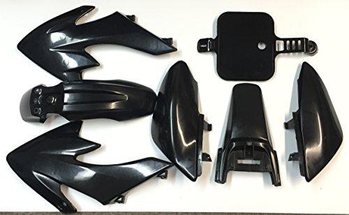 HTT Group Motorctcly Black Plastic Fender Kit Body Work Fairing Kit For Honda CRF XR XR50 CRF50 Clone 125CC Pit Dirt Bike