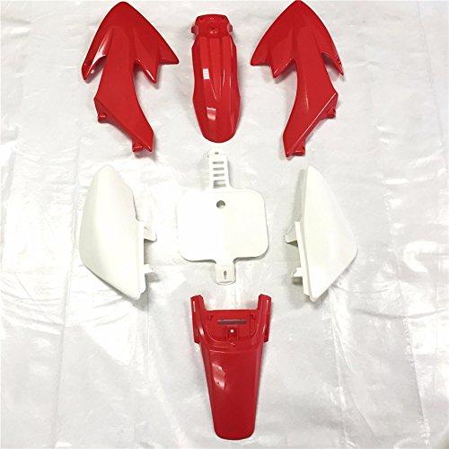 HTT Group Motorctcly Red Plastic Fender Kit Body Work Fairing Kit For Honda CRF XR XR50 CRF50 Clone 125CC Pit Dirt Bike