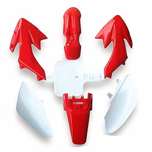 Podoy CRF50 Plastic Kit Red White XR50 Plastic Fender Kit for HONDA XR 50 CRF 50 SDG SSR 107 110 125 Pit Dirt Bike M PS03