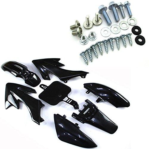 TC-Motor Black Plastic Fairing Fender Kit  Mounting Screws Kits Bolts For Honda Piranha XR50 CRF50 Pit Dirt Bike 50cc 70cc 90cc 110cc 125cc 150cc 160cc DHZ YCF