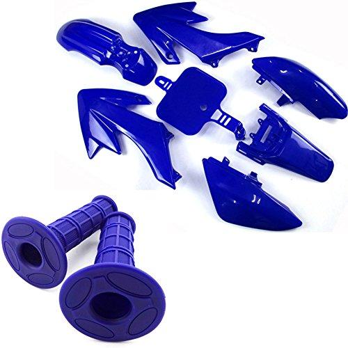 TC-Motor Blue Throttle Handle Grips  Blue Fairing Plastic Fender Kits For Honda Dirt XR50 CRF50 Chinese Pit Bike Pitsterpro Braaap DHZ YCF SDG