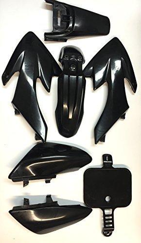 XKH Group Motorctcly Black Plastic Fender Kit Body Work Fairing Kit For Honda CRF XR XR50 CRF50 Clone 125CC Pit Dirt Bike