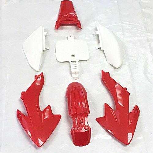 XKH Group Motorctcly Red Plastic Fender Kit Body Work Fairing Kit For Honda CRF XR XR50 CRF50 Clone 125CC Pit Dirt Bike