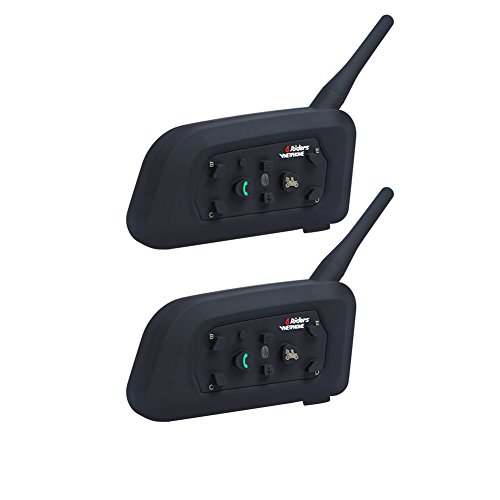 Vnetphone Motorcycle Bluetooth Intercom Headset Full Duplex Motorbike Snowmobile Walkie-Talkie Wireless Interphone Helmet Waterproof Wireless Headphone 6 Riders Communicator 1200M Dual