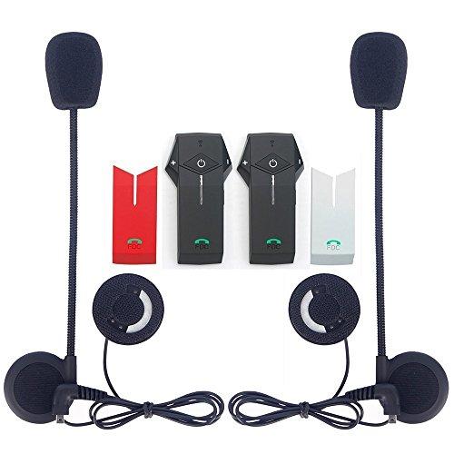 FreedConn Motorcycle Bluetooth Intercom Motorbike Headset BT Interphone 1000m NFC Pack of 2