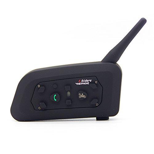 Vnetphone 1200m Wireless 6 Riders Motorcycle Bluetooth Helmet Intercom Interphone Headset
