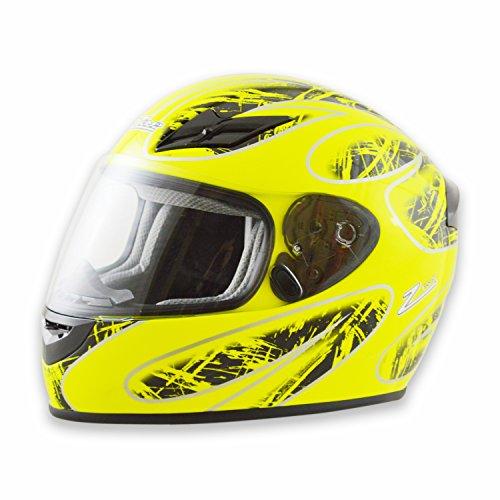 Zamp FS-8 Snell M2015  DOT Helmet Graphic GreenBlack Large