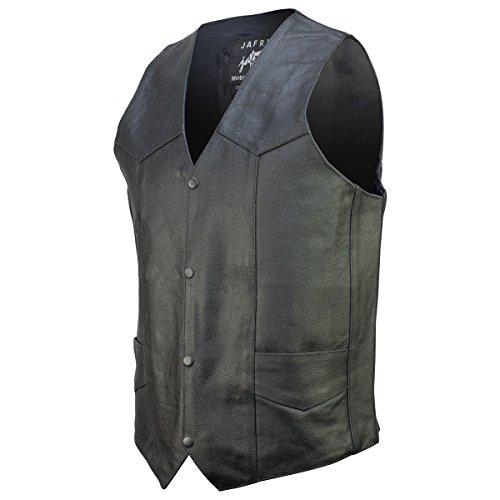 Basic Concealed Carry Biker Leather Vest 46