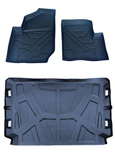 3pc set Polaris General rubber floor mat liners Treadliner 2016-