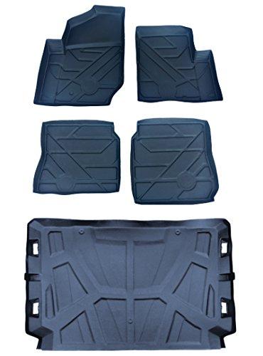 5pc set Polaris General rubber floor mat formed liners Treadliner 2016-