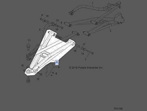 Polaris 2017-2018 RZR XP 1000 Lower Control Arm 1021481-630 New OEM