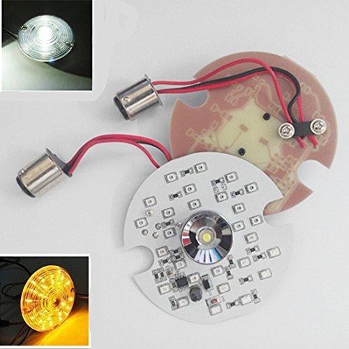 1157 LED Turn Signal for Harley Daytime Running Light Touring White Amber Dual 1157 Amber