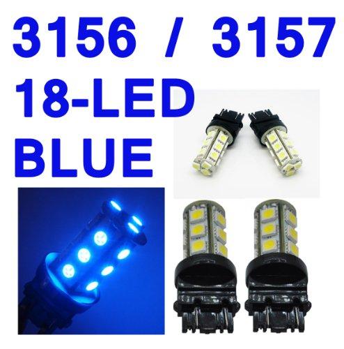 IG Tuning 3157 18-SMD Blue LED Bulbs Reverse Light 3156 3757 4114 4157 Backup Daytime Running Light DRL Turn Signal Light Corner Light Stop Light Parking Light Side Marker Light Tail Light and Backup Lights 12V