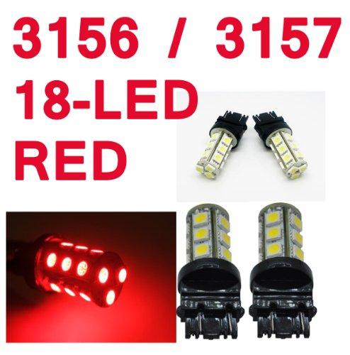 IG Tuning 3157 18-SMD Red LED Bulbs Reverse Light 3156 3757 4114 4157 Backup Daytime Running Light DRL Turn Signal Light Corner Light Stop Light Parking Light Side Marker Light Tail Light and Backup Lights 12V