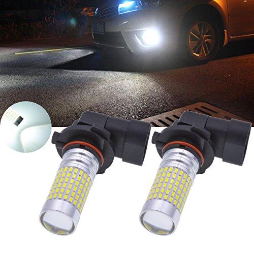 TUINCYN 9006 HB4 3014 144SMD Super Bright LED Light Bulbs Xenon White 1500 Lumens 6000K Fog Lights DRL Daytime Running Lights Turn Signals Back Up Reverse Lights 12V-24V 6000KPack of 2