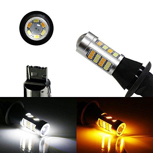 iJDMTOY 2 High Power 42-SMD 7440 LED Daytime Running LightsTurn Signal Lights Conversion Kit