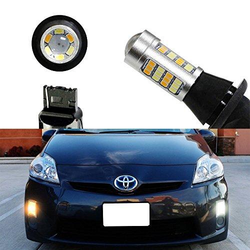 iJDMTOY 2 High Power 42-SMD LED Daytime Running LightsTurn Signal Lights Conversion Kit For 2010-2015 Toyota Prius 2012-2016 Toyota Prius V