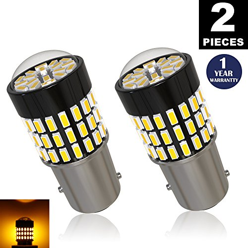 LUYED 2 x 900 Lumens Super Bright 1157 3014 78-EX Chipsets 1157 2057 2357 7528 LED Bulbs Used For Turn Signal LightAmber