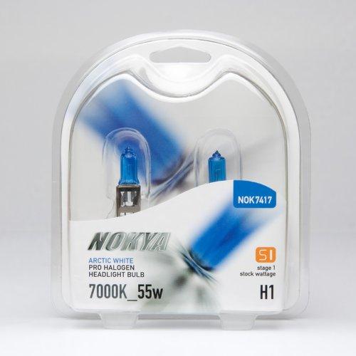 Nokya H1 Headlight Bulbs — Arctic White 7000K 55W Stage 1