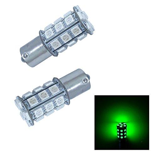 PA2pcs Ba15s 1156 30 SMD LED AUTO Turn Signal LightSide Marker LightBrake Light Bulbs 12V-Green