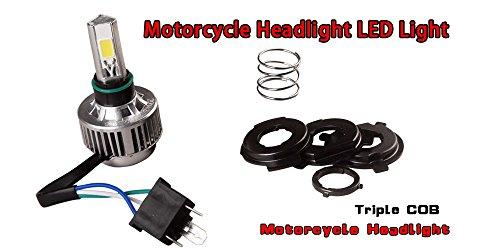LEDKINGDOMUS H4 9003 Motorcycle LED Headlight Bulb Dual Beam Clear 6K White 24w 2600Lm COB Led Bulb
