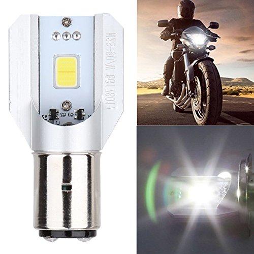 UEB 6 Led Motorcycle Headlight Bulbs 6W 800LM BA20D Hi Lo Beam Lamp Scooter ATV