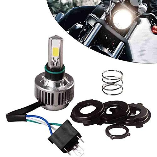 YITAMOTOR H4 COB LED Bulb HID White 360° High Low Beam Motorcycle Headlight 6500K High Power