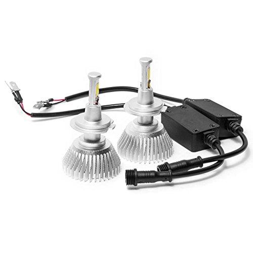 Biltek LED H7 Headlight Conversion Bulbs 40W 4000LM Light Bulb Xtra Bright 6000K White