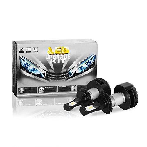 H7 LED Headlight Bulbs2 Pack Eyourlife Colbeam H7 Headlight Conversion Kit 7200Lm 6000k Cool White Driving Headlight Lamp-3 Years Warranty