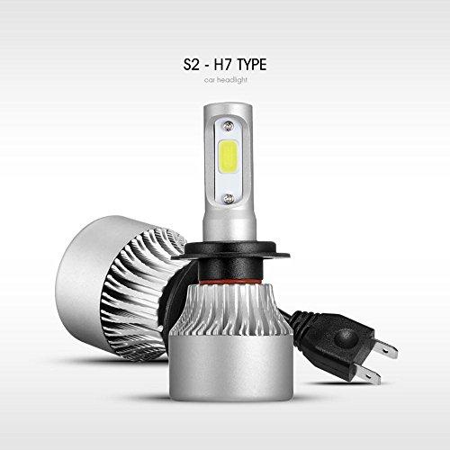 S2 Super Bright COB LED Chips Led Bulb H7 Headlights Car Led Light High  Low Beam 12V Fog Light Automobile 1PairPack H7