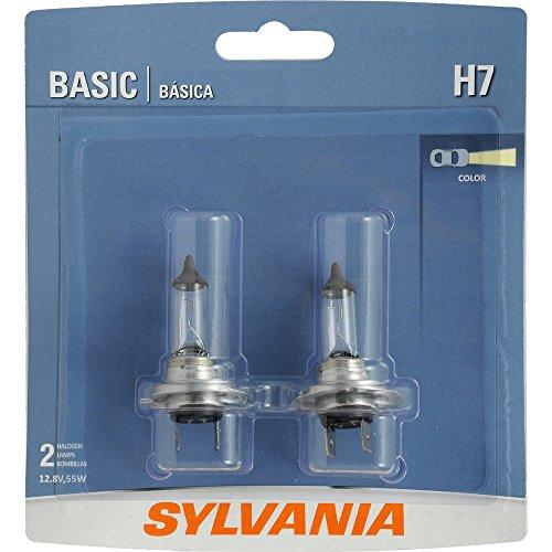 SYLVANIA H7 Basic Halogen Headlight Bulb Contains 2 Bulbs