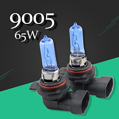 HB3 9005 P20d 12V 65W Halogen Bulb 2 PCS1 Pair 6500K Super White Quartz Glass Xenon Dark Blue Car Headlight Lamp