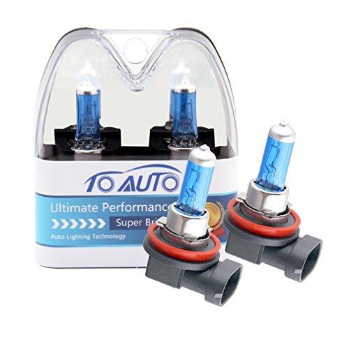 ToAUTO 2 X H11 55W 12V Car Headlight Lamp Halogen Light Super Bright Fog Xenon Bulb White