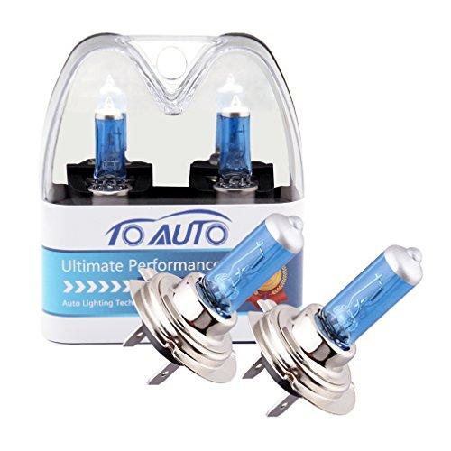 ToAUTO 2 X H7 55W 12V Car Headlight Lamp Halogen Light Super Bright Fog Xenon Bulb White