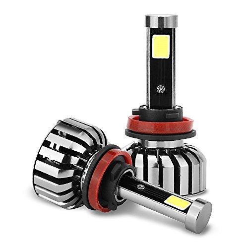 H11 H9 H8 80W LED Headlight Bulbs All-in-One Conversion Kit 8000 Lumens 6000K 2 Pcs of Cool White Bulbs COB LED Headlights 18 Month Warranty