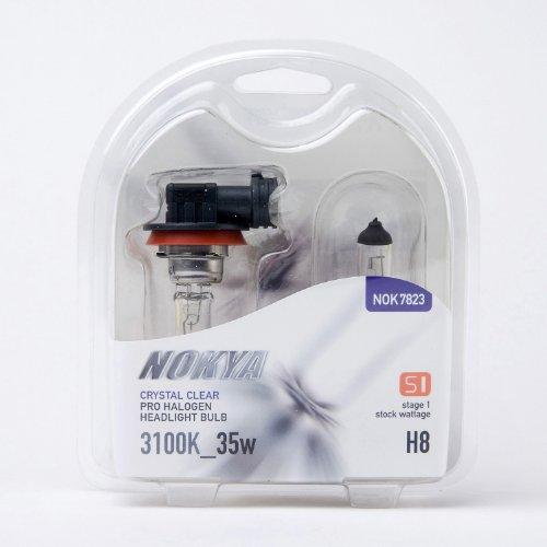 Nokya H8 HeadLight Bulbs — Clear 3100K 35W Stage 1 NOK7823